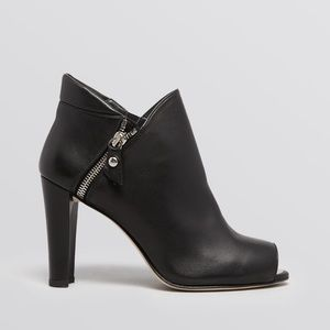 Stuart Weitzman Black leather booties